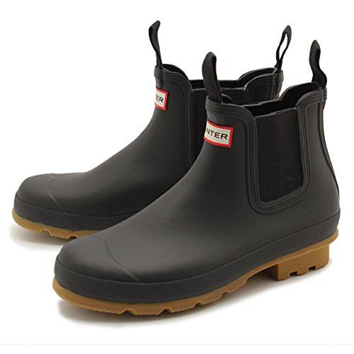 (ハンター)HUNTER オリジナル チェルシー サイドゴア ブーツ メンズ 03.ブラック×ブラウン UK8.0(27cm) [並行輸入品]