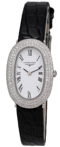Longines Prestige 18kt White Gold & Diamond Womens Strap Watch L4.225.7.18.2
