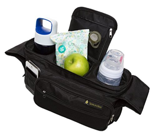 LEAP YEAR SALE! Stroller Organizer by Spark and Bee - BEST Quality Parent Console - Lifetime Warranty - FREE Ebook - Satisfaction Guaranteed - Perfect Baby Shower Gift and Jogger Accessory for Strollers