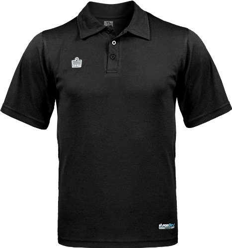 admiral classic soccer coach sideline polo shirt black