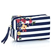 Nautical Floral Print Mini Cosmetic Purse