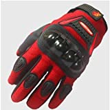 Street Bike Motorcycle Gloves A9 Red (Med)