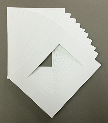 Pack of 10 8x10 White Picture Mats White Core Cut for 5x7 Pictures (Picture Frame Mat 8x10 compare prices)