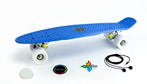 Click here to buy 22 Balance Old-School Cruiser Skateboard Includes FREE Premium Headphones, Stickers, and Grip Disc - Retro Mini Banana... by Balance Boards.