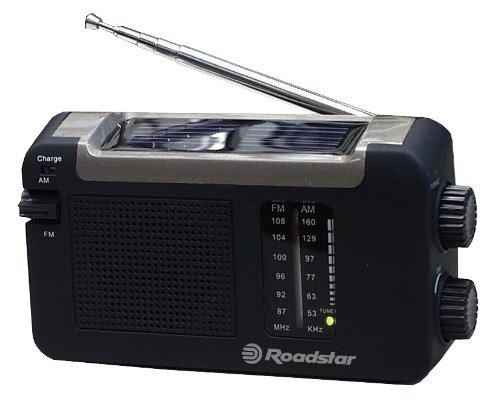 Roadstar TRA-500 DS Tragbares Solar-Radio (UKW-/MW-Tuner