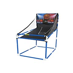 Buy Indoor Junior Basketball Electronic Arcade Hoop Style Double Goal Backdoor Shootout Game by MV Sports