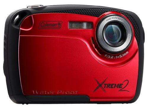 Coleman Xtreme Ii C12Wp-R 16Mp Waterproof Digital Camera With 2.5-Inch Lcd Screen (Red)