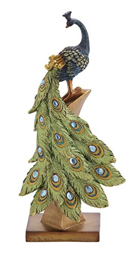 Poly-Stone Peacock, 6 by 13-Inch