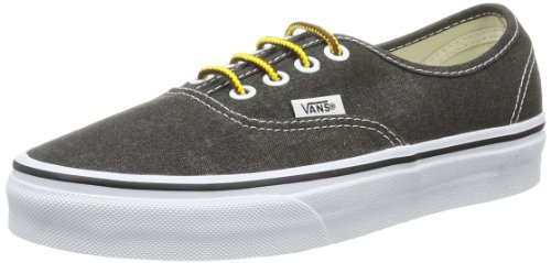 Vans Unisex-Adult Authentic Low-Top Trainers VVOE4JT Washed/Black 10.5 UK, 45 EU
