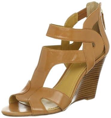 Nine West Women's Merle Wedge Sandal,Natural Leather,11 M US
