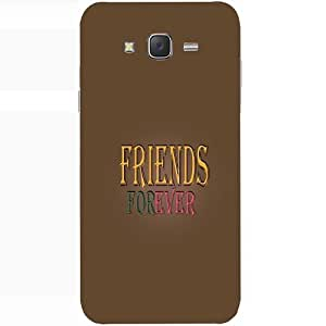 Casotec Friendship Quote Design Hard Back Case Cover for Samsung Galaxy J2