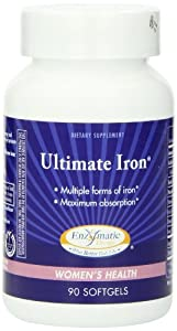 Enzymatic Therapy -  Ultimate Iron, 90 Softgels