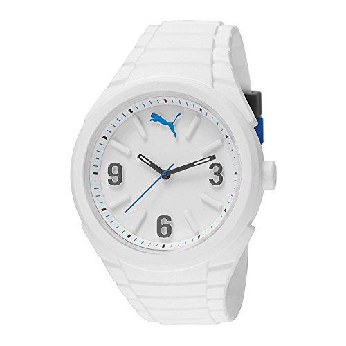 [プーマ] PUMA 腕時計 Unisex Gummy Analog Display Analog Quartz White Watch アナログ クォーツ PU103592002 [バンド調節工具&高級セーム革セット]【並行輸入品】