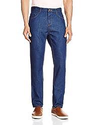 Cherokee Men's Tapered Fit Jeans (8907242789125_267695462_32W x 30L_Dk-Blue)
