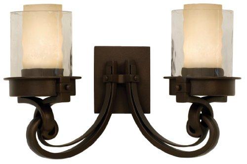 Kalco 5752SZG285G285A Newport 2-Light Vanity Fixture Satin