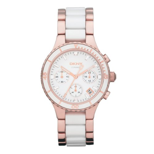 DKNY NY8504 - Reloj analógico de cuarzo para mujer con correa de acero inoxidable, color multicolor