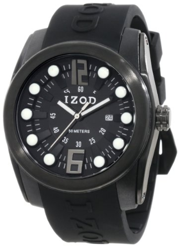 IZOD Men's IZS1/2 BLK/BLK Sport Quartz 3 Hand Watch