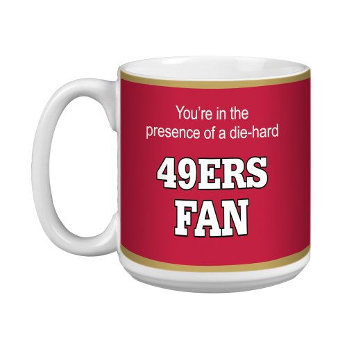 Tree-Free Greetings Xm28134 49Ers Football Fan Artful Jumbo Mug, 20-Ounce