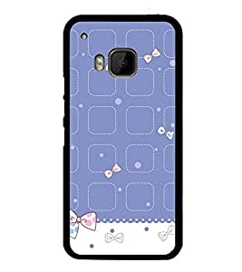 Cute Hair Bow Pattern 2D Hard Polycarbonate Designer Back Case Cover for HTC One M9 :: HTC One M9S :: HTC M9 :: HTC One Hima