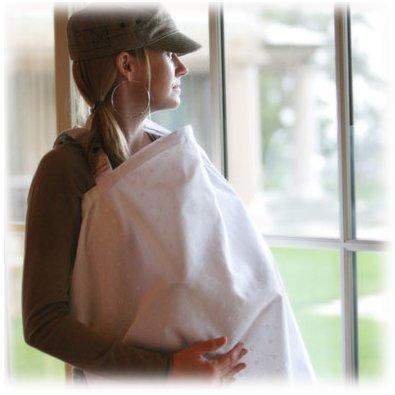 Bebe au Lait Nursing Cover - Eyelet - Ivory