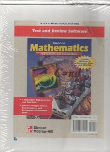 Glencoe Mathematics Course One Test and Review Software 3.5 diskettes and CD-ROM (Applications and Connections) PDF