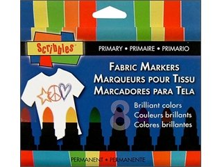 Duncan Scribbles Fabric Markers Primary 8pc