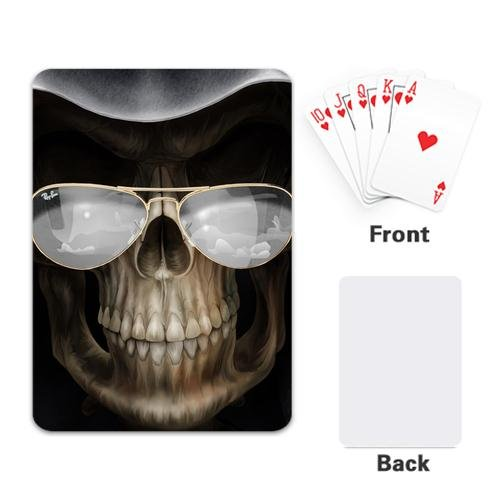 Custom Poker Playing Cards Single Side Coated Paper 2.5x 3.5 Inches-Grim Reaper Wears Glasses Design Style c p smith on playing oboe recorder flage paper only