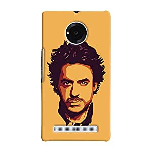 ColourCrust Micromax Yuphoria Mobile Phone Back Cover With Robert Downey Jr. - Durable Matte Finish Hard Plastic Slim Case