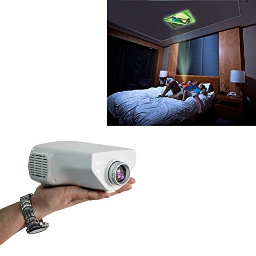 Aometech Uc03 Support Pc Laptop Vga Input And Hdmi+Sd + Usb + Av Input, 500 Lumens Multimedia Led Lcd Portable Projector Hdmi Av Vga Port Usb 20'~100'Mini Hd 500Lm Led Projector Cinema Theater(White)