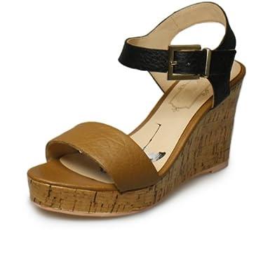 Amazon.com: Ted Baker Breen Tan Black Wedge Sandals-UK 8: Shoes