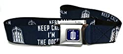 Doctor Who Keep Calm I'm The Doctor Navy Seatbelt Style Belt