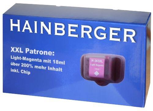 Hainbergerkompatible XXL Tintenpatrone 18ml 1x Light Magenta für HP 363 Serie 363LM für HP Photosmart C5190 C5194 C5150 C5160 C5170 C5173 C5175 C5183 C5185 C5188 C5190 C5194 C6150 C6160 D6160 D7145 D7155 D7160 D7163 D7168 D7180 D7183 D7260 D7280 D7300 D7345 D7355 D7360 D7363 D7368 D7460 D7463 D7468 Photosmart 3100 3110 3200 3210 3310 C5180 C6160 C6180 C7180 8200 8238 8250