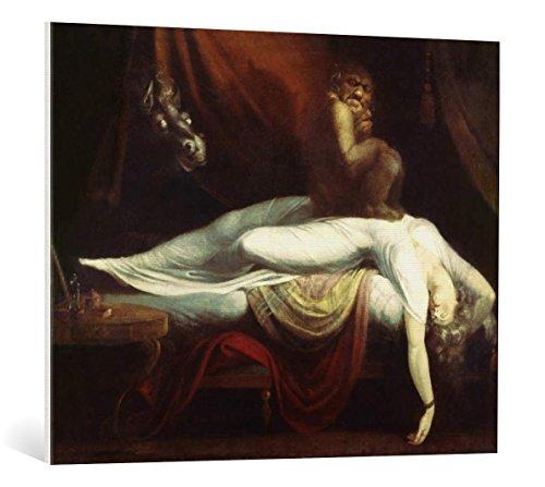 """Quadro su tela: Johann Heinrich Füssli """"Der Nachtmahr"""" - stampa artistica di alta qualità, tela con intelaiatura in legno, quadro pronto per essere appeso, 100x80 cm"""