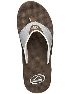 Reef Men's Fanning Brown/Grey Sandal 7 D - Medium