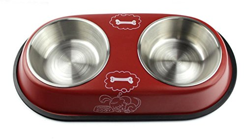 weili-stainless-steel-pet-food-bowl-green-activists-safe-non-toxic-anti-slip-rubber-base-cat-and-dog