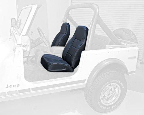 Rugged Ridge 13401.15 Standard Black Denim High Back Front Seat front-437096