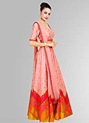 PINK MASTANI FOR NAVRATRI & DIWALI BEAUTY OF SEASON HUNGAMA SILK LEHENGA CHOLI WITH DIGITAL PRINT