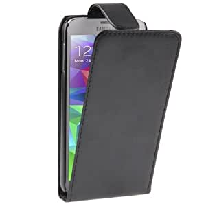 High Quality Vertical Flip Leather Case for Samsung Galaxy S5 G900 in Black