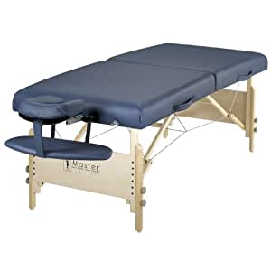 """Master Massage 30"""" Coronado LX Portable Massage Table Package, Royal Blue (Includes FREE Carrying Case, Bolster, Spa Music CD's and Pillow Covers)"""