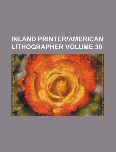Inland printer American lithographer Volume 30