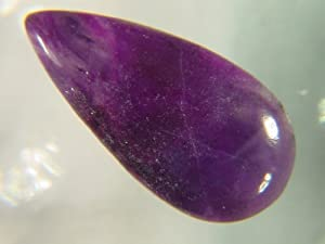 Genuine Sugilite Tear Drop Pear 22x 11x 3 mm Cabochon Lapidary 5.5ct Gemstone