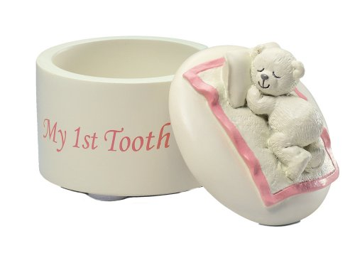 Russ Berrie My 1st Tooth Keepsake Box, Pink (Discontinued by Manufacturer)
