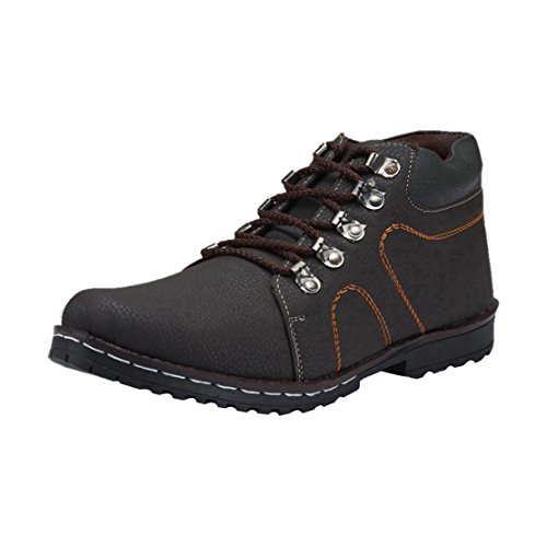 Bachini Men's 1513-Brown-44 Leather Boots - 10 UK