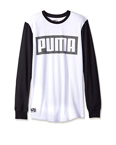 PUMA Men's Long Sleeve Mesh Knockout Tee