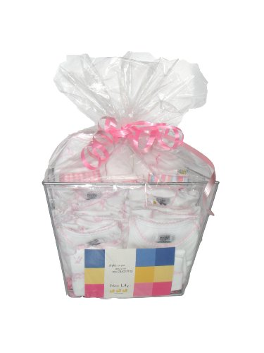 Noa Lily Extra Large Layette Gift Basket, Pink Toile, 6 Months