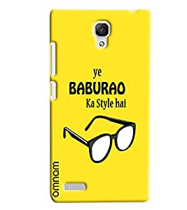 Omnam quoted printed ye babu rao ka style hai back cover for Xiaomi Redmi Note Prime