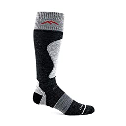 Darn Tough Vermont Merino Wool Over-The-Calf Padded Ultra-Light Sock (Charcoal, X-Large)