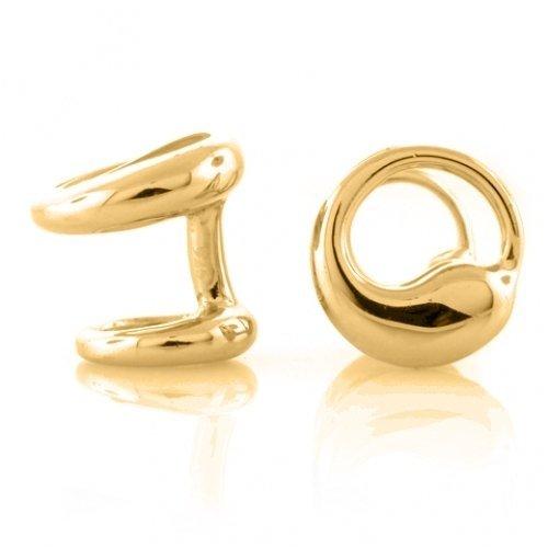 Bling Mens Gold Vermeil 925 Sterling Silver Eternal Circle Modern Cufflinks