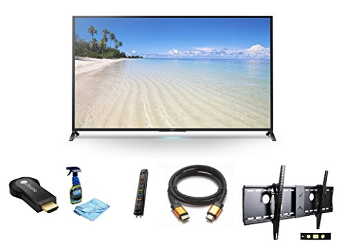 "Sony Kdl70W850B 70-Inch 1080P 120Hz 3D Smart Led Tv + Google Chromecast Hdmi Streaming Media Player + 3M High Speed Orange Gold Hdmi Cable For 2160P, 3D, And 4K + Focus 32""-70"" Tv Bracket Mount 165 Lbs Capacity + Monster Surge Protected Ac 7 Outlets"