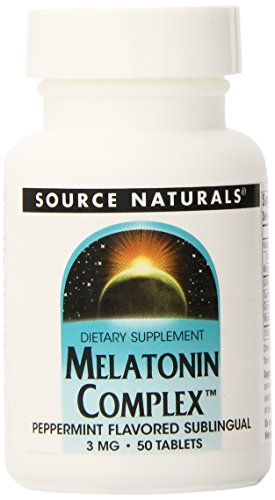 Source Naturals Melatonin Complex, menthe